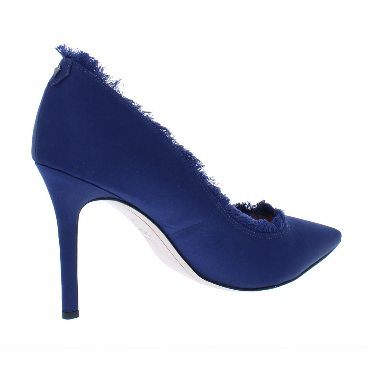 b0b610642 Sam Edelman Womens Halan Navy Pointed Toe Heels Shoes 8.5 Medium (B ...