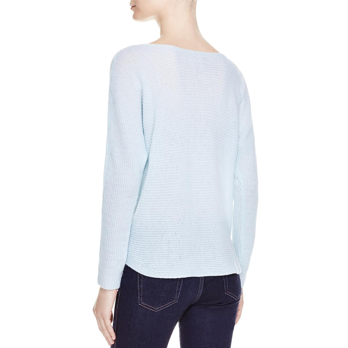 Joie-Womens-Cashmere-Long-Sleeves-Scoop-Neck-Pullover-Sweater-Top-BHFO-3882 thumbnail 5