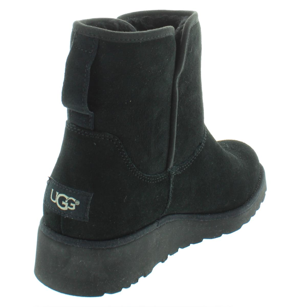 5587fddf4019 Details about Ugg Womens Kristin Black Suede Wool Ankle Boots Shoes 7.5  Medium (B
