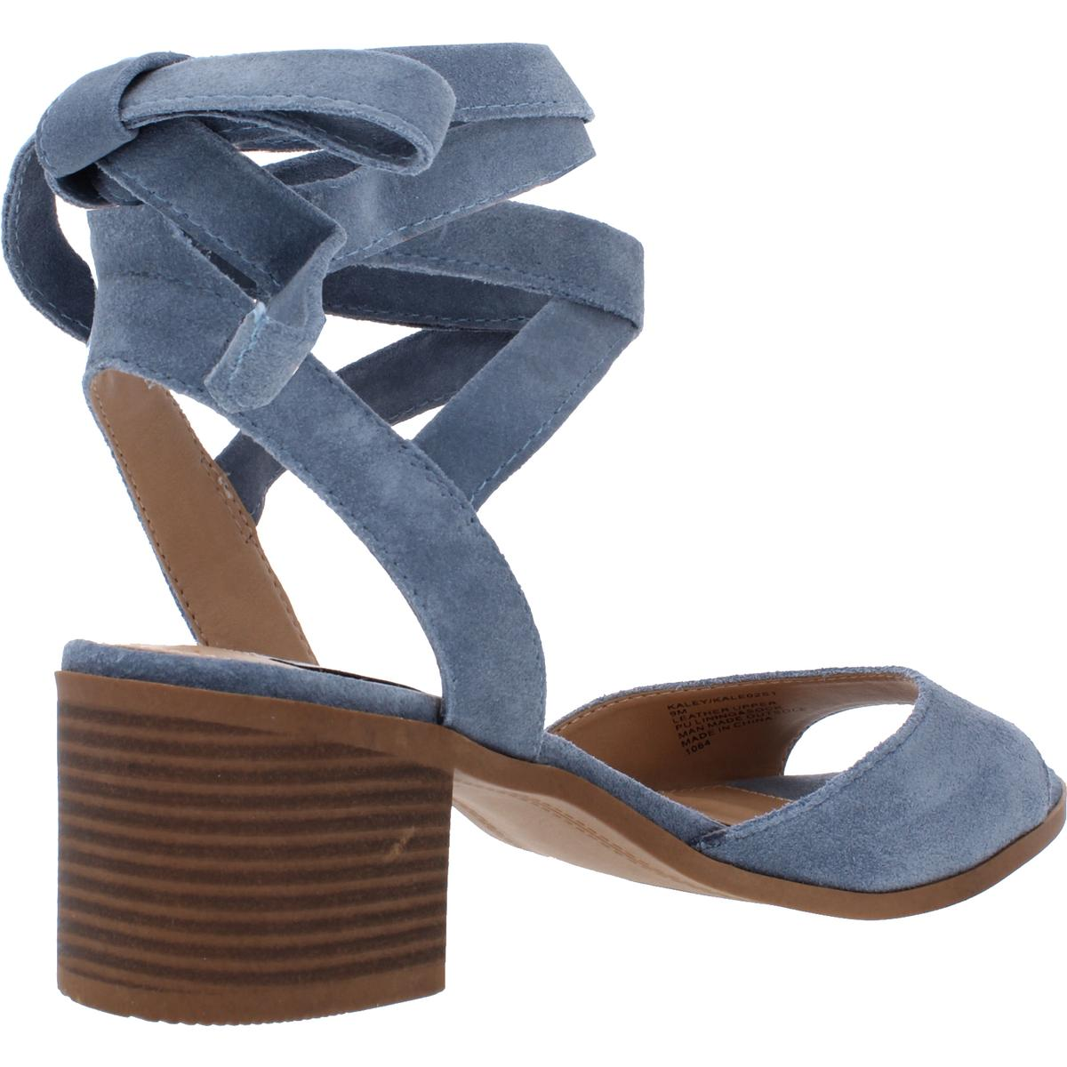 Steve-Madden-Womens-Kaley-Suede-Ankle-Wrap-Dress-Sandals-Shoes-BHFO-0145 thumbnail 4