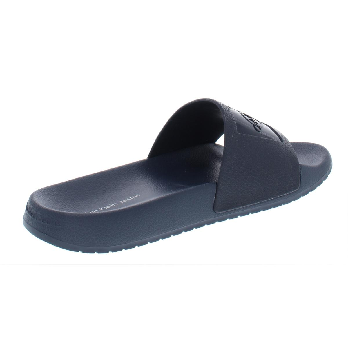 Calvin-Klein-Jeans-Womens-Christie-Embossed-Pool-Flat-Sandals-Shoes-BHFO-7722 thumbnail 4