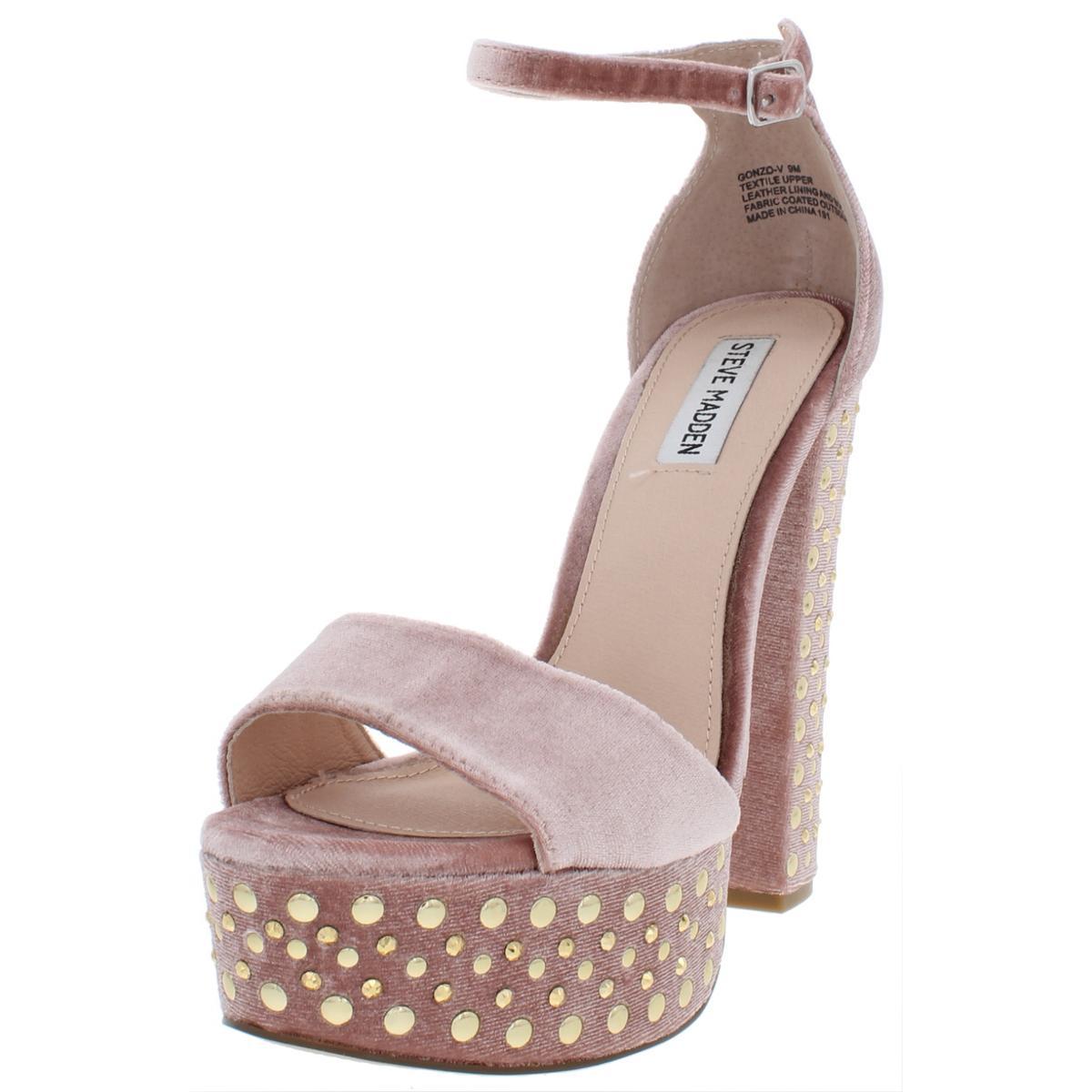 b7e18c2d53e Details about Steve Madden Womens Gonzo Pink Dress Sandals Shoes 9 Medium  (B,M) BHFO 8499