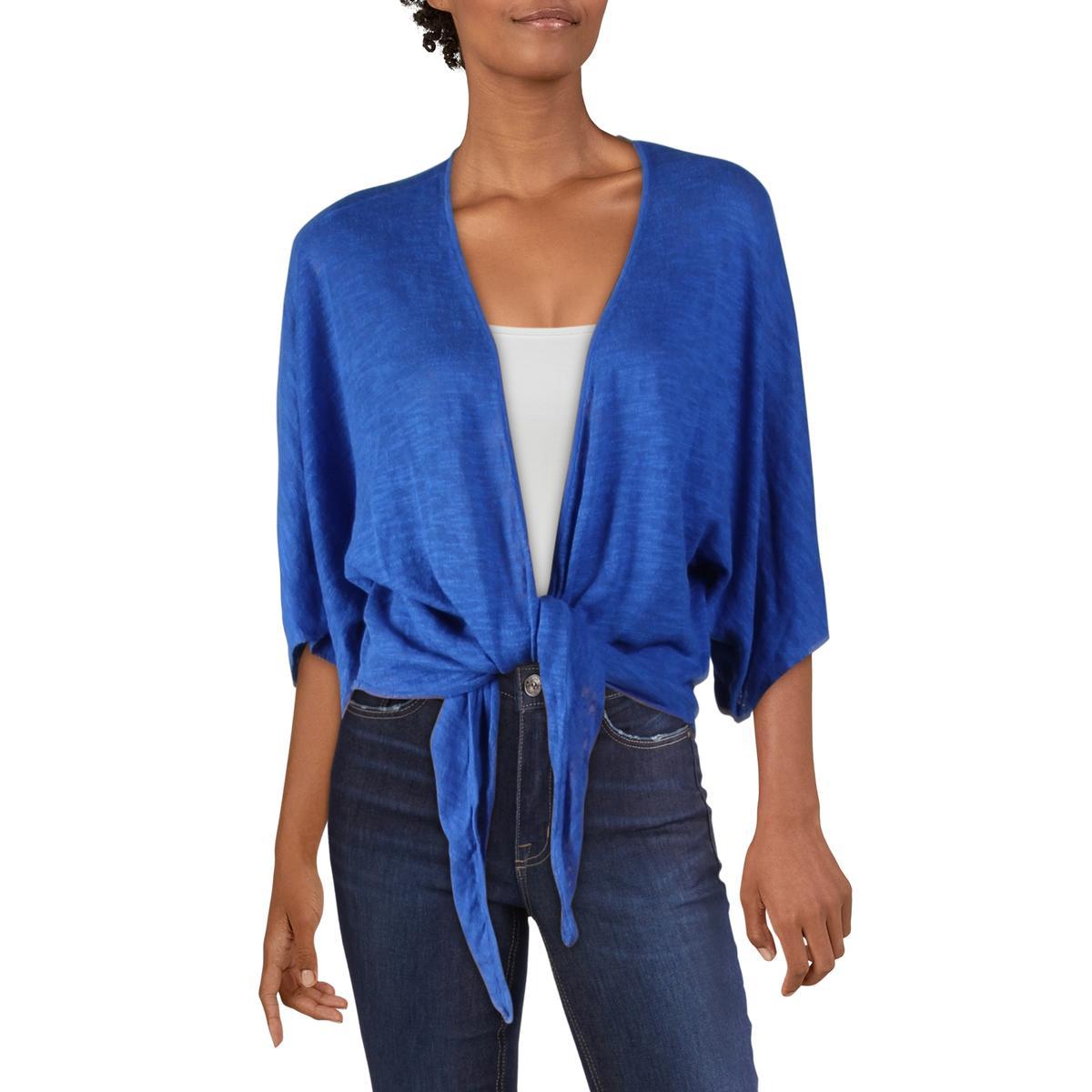Alfani Womens Blue Satin Floral Shirt Blouse Top L BHFO 8143