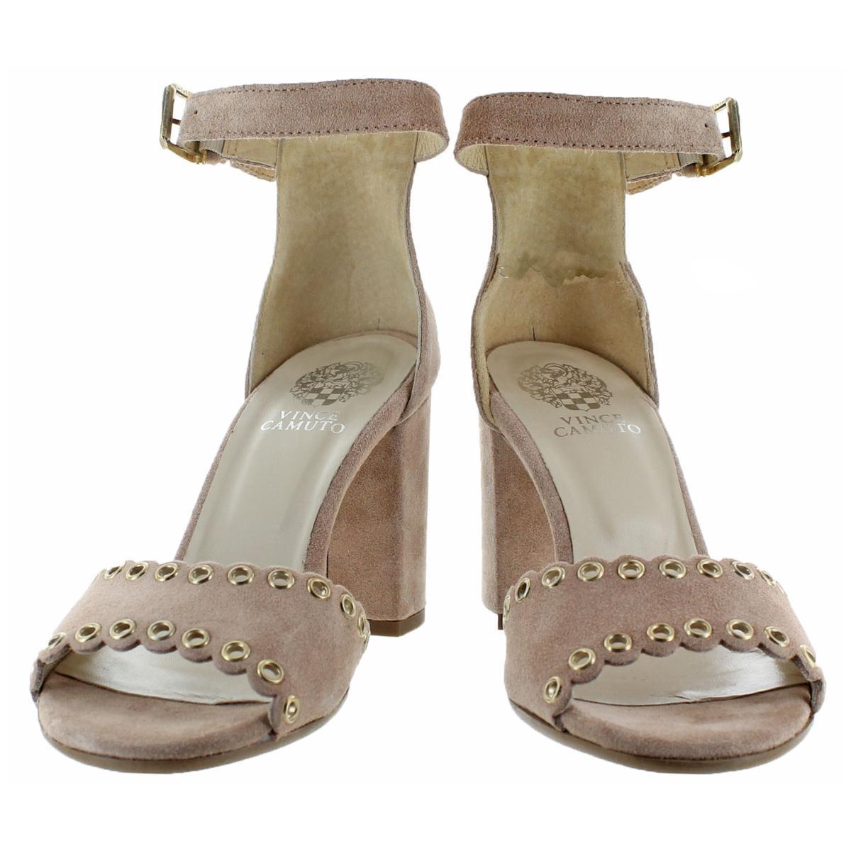 Vince-Camuto-Missy-Women-039-s-Suede-Open-Toe-Block-Heel-Dressy-Sandal-Shoes thumbnail 7