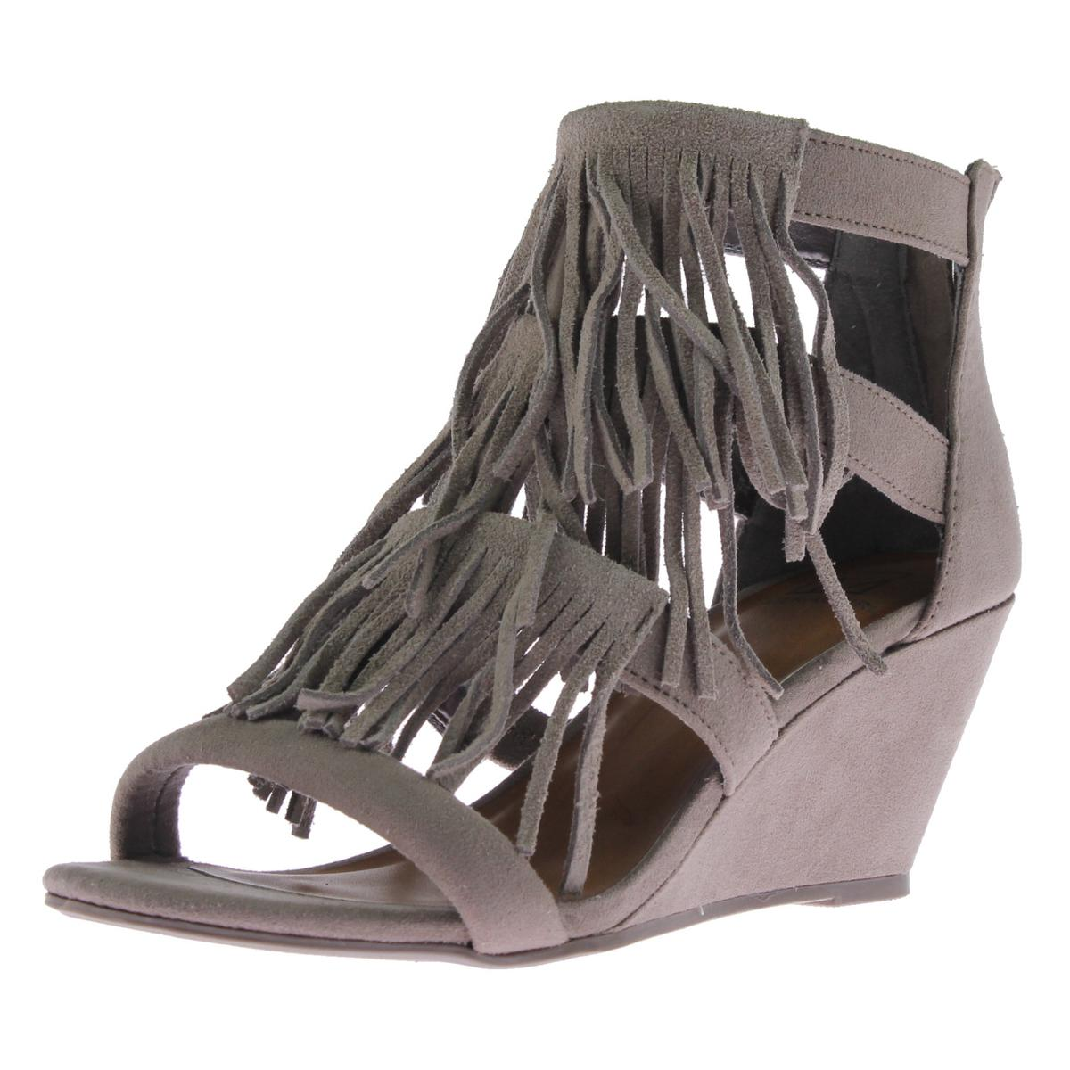 aabcf1f3558 Details about Material Girl Womens Hannah Taupe Wedge Sandals Shoes 8.5  Medium (B