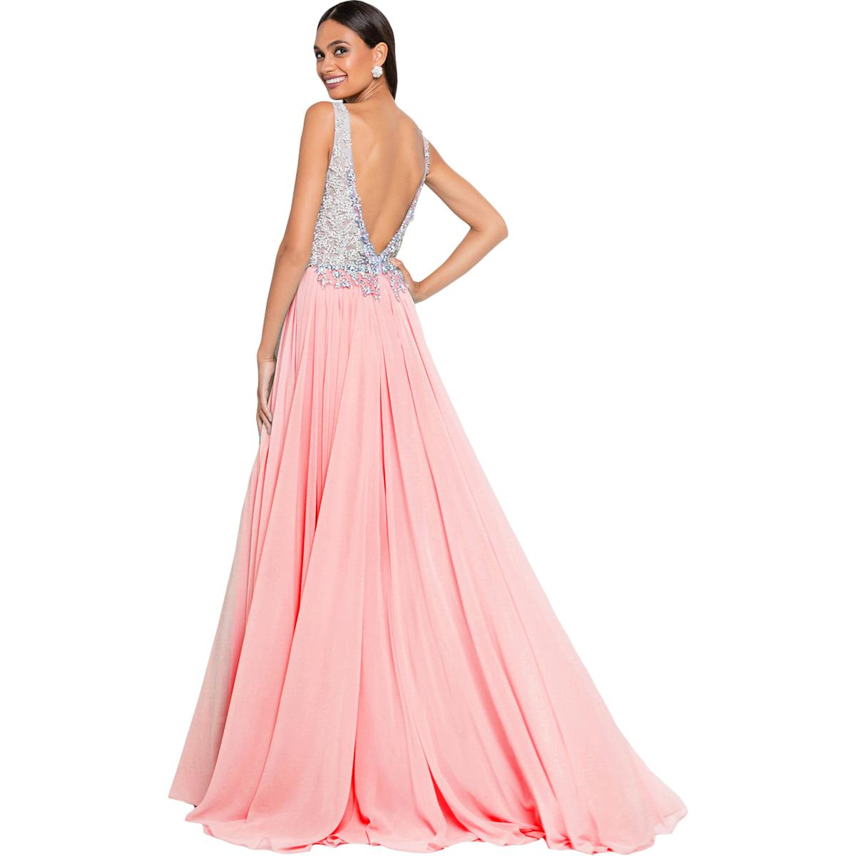 460a5356034 Terani Couture Pink Prom Beaded Evening Dress Gown Plus 18 BHFO 9421. About  this product. Picture 1 of 4  Picture 2 of 4  Picture 3 of 4  Picture 4 of 4