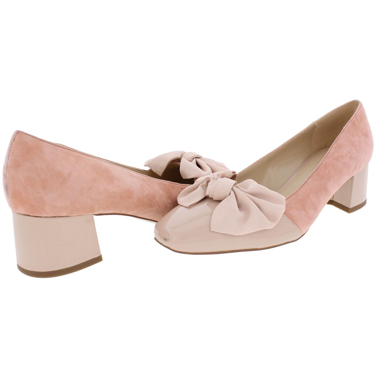IMNYC-Isaac-Mizrahi-Womens-Julia-Square-Toe-Suede-Dress-Pumps-Shoes-BHFO-2614 thumbnail 6