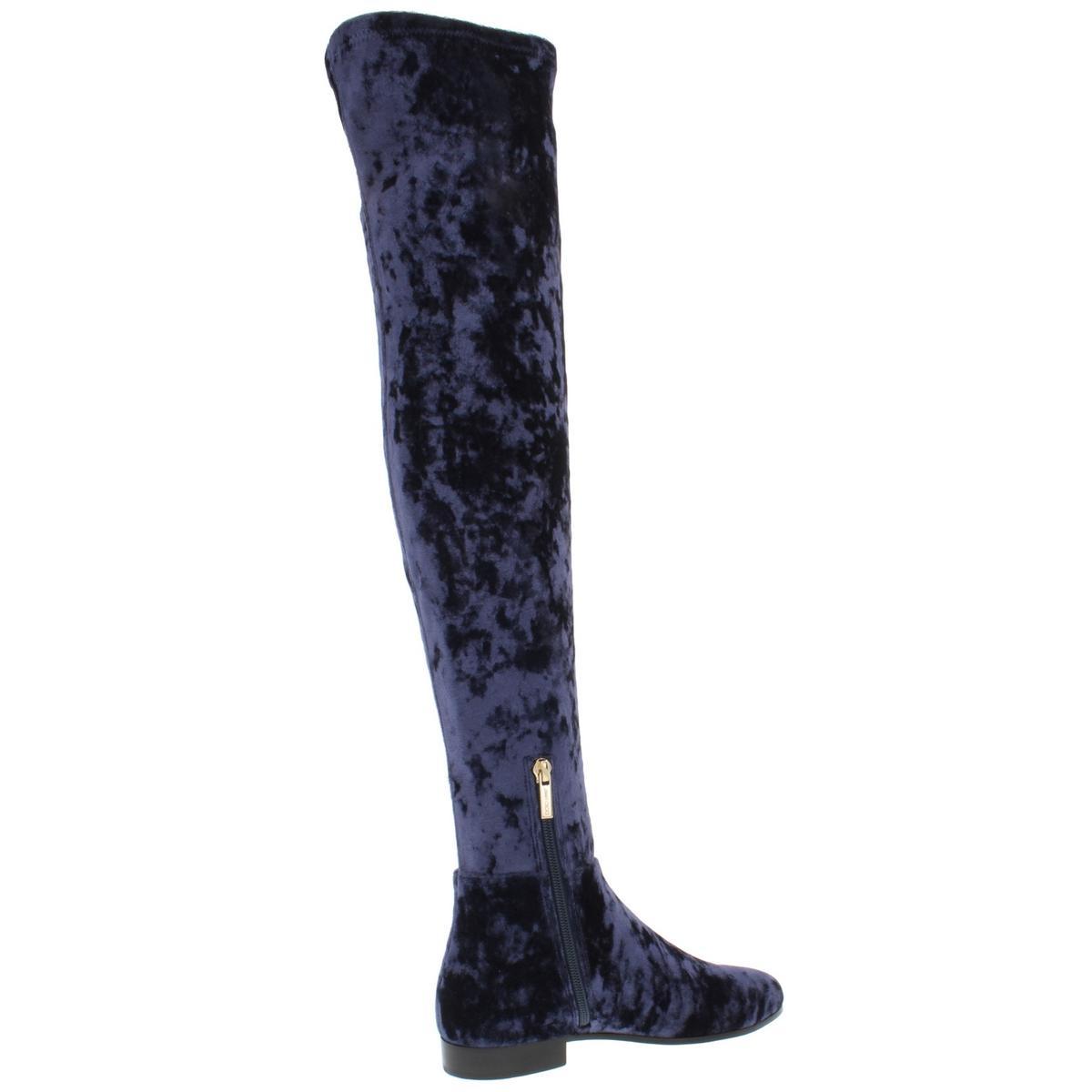 Jimmy-Choo-Womens-Myren-Navy-Over-The-Knee-Boots-Shoes-36-Medium-B-M-BHFO-1167 miniatuur 2