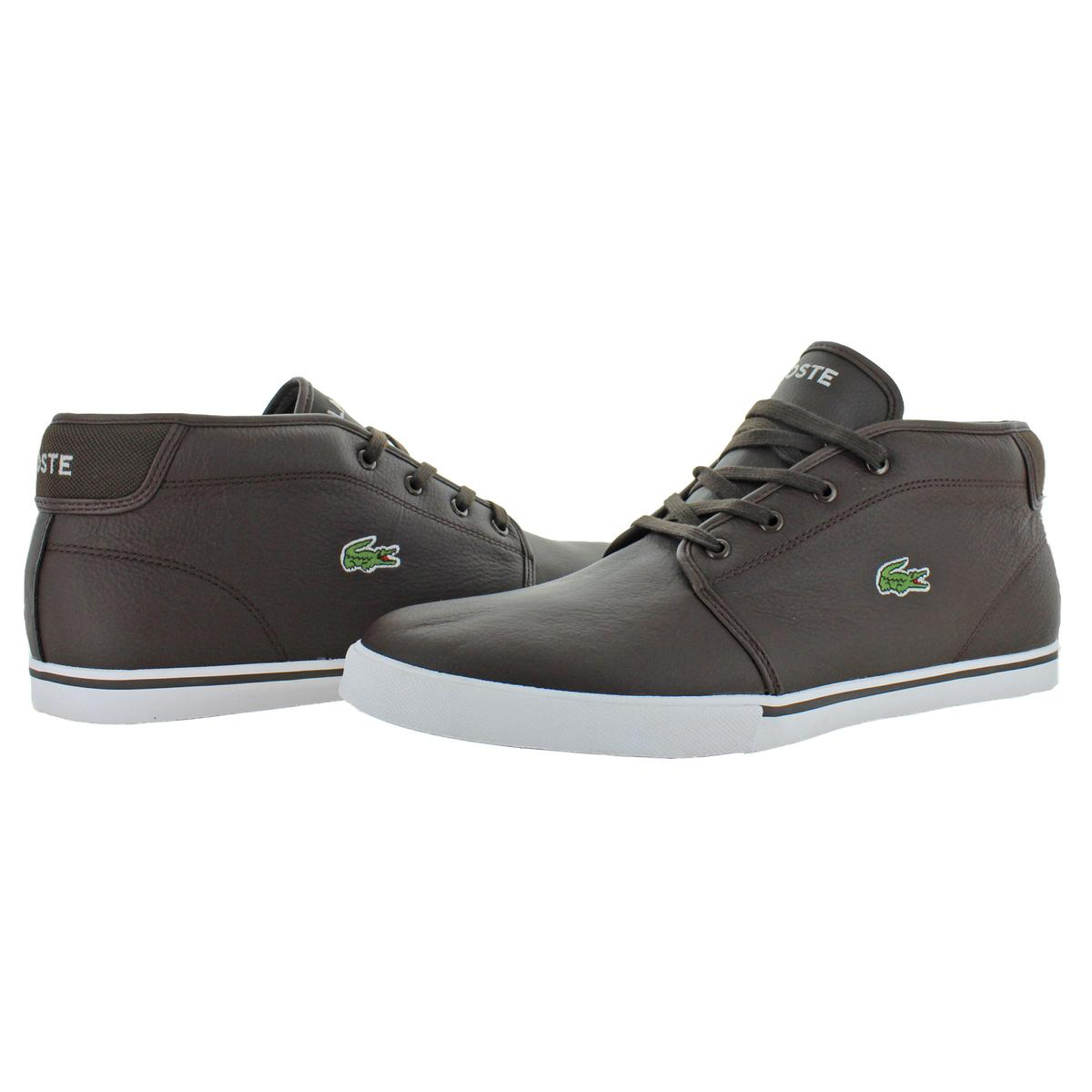 Lacoste-Men-039-s-Ampthill-Leather-Chukka-Mid-Top-Fashion-Sneakers-Shoes thumbnail 3