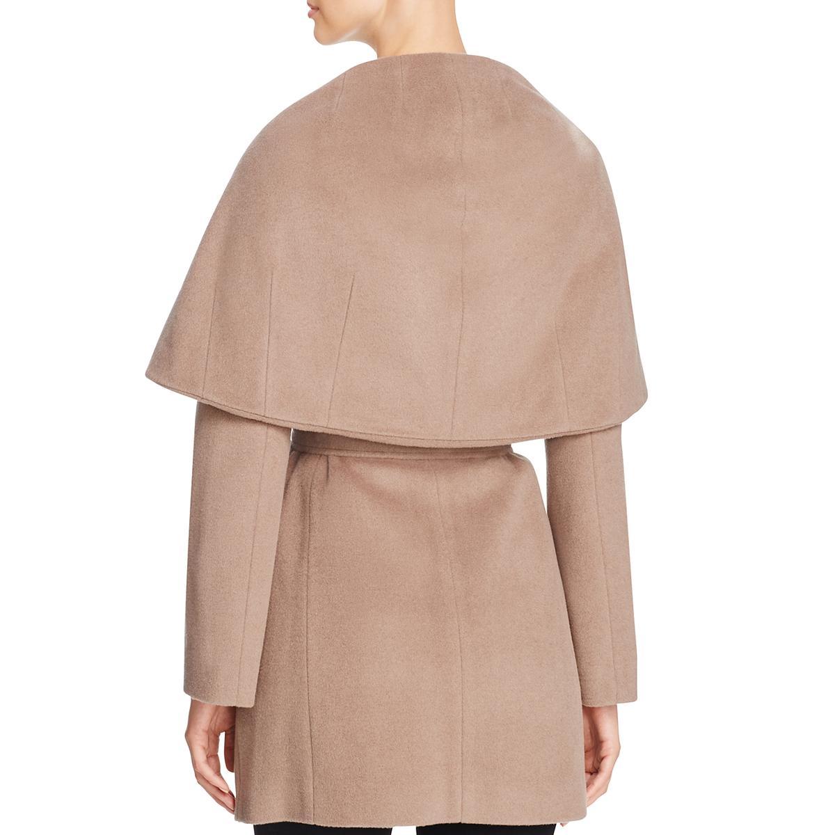 T-Tahari-Marla-Women-s-Oversized-Collar-Wool-Wrap-Coat thumbnail 6
