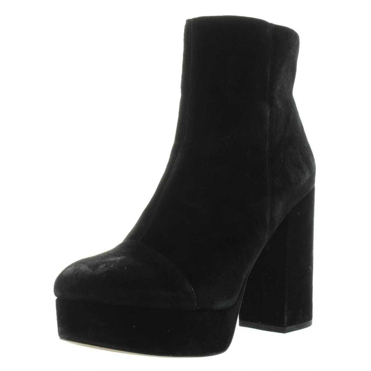 8b9c88f9092a20 Details about Sam Edelman Womens Azra Black Suede Booties Platforms 10  Medium (B