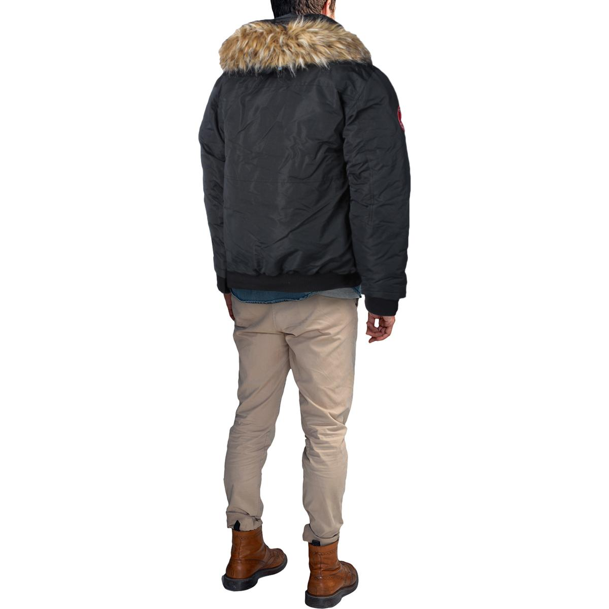 Canada-Weather-Gear-Men-039-s-Heavy-Weight-Faux-Goose-Down-Jacket-Coat
