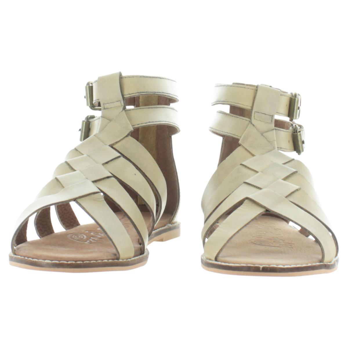 63f05730ba7a Naughty Monkey Cilani Women s Leather Woven Gladiator Sandals