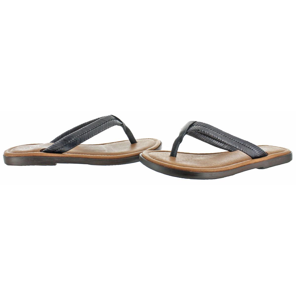 4ea8ec0f2f04b1 Sbicca Womens Elonara Black Woven Thong Sandals Shoes 6 Medium (b M ...
