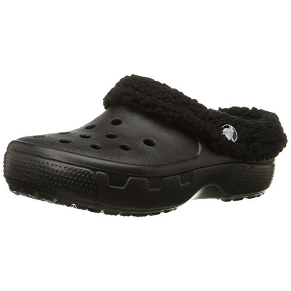 Crocs 3680 Boys Mammoth Faux Fur Slip On Clogs Shoes BHFO | eBay