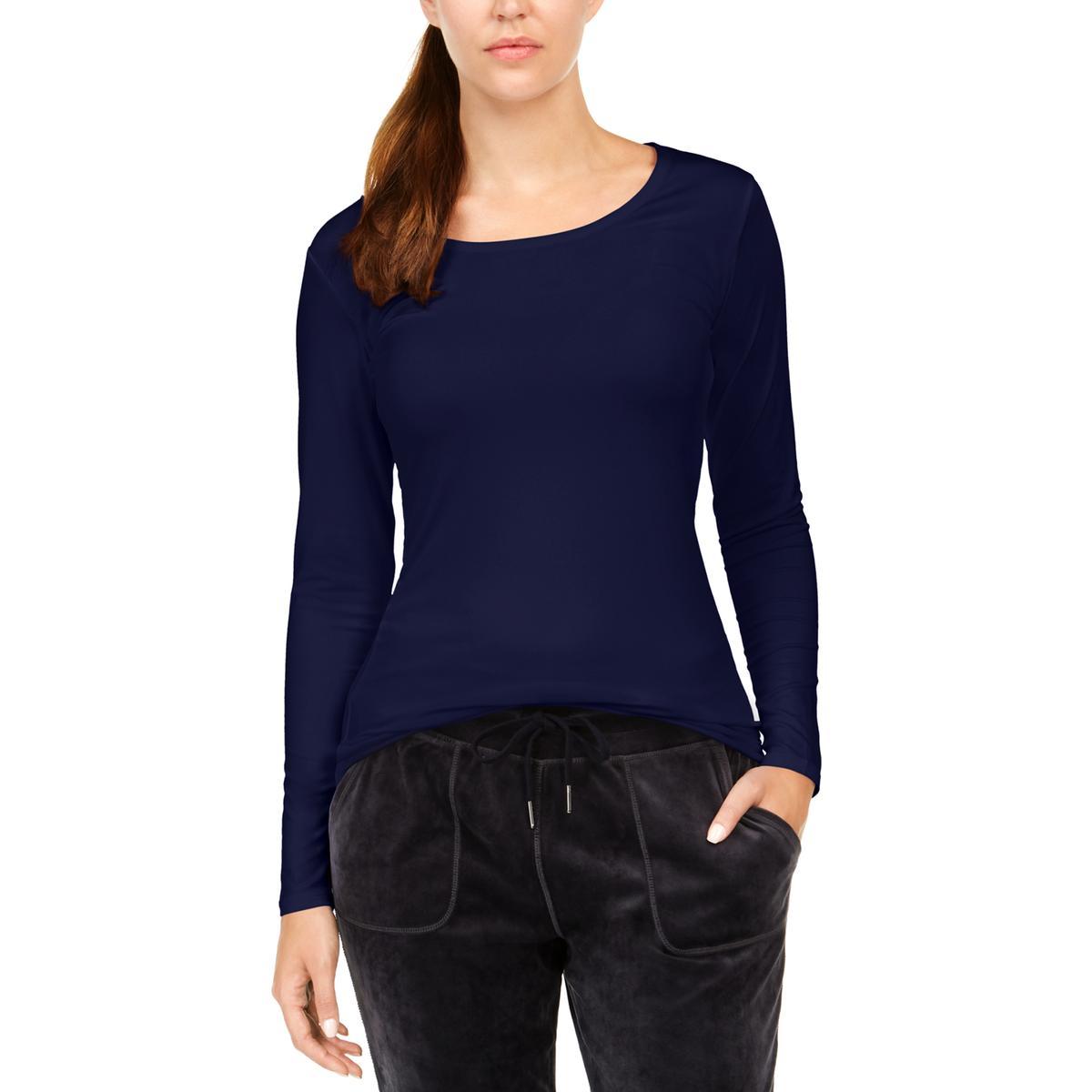 Avec Womens Scoop Neck Long Sleeve Casual Top Shirt BHFO 2699