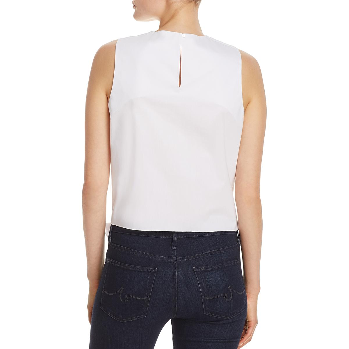 42cc1fdaec11f7 Details about Cupio Womens Front-Tie Keyhole Sleeveless Casual Top Shirt  BHFO 1093