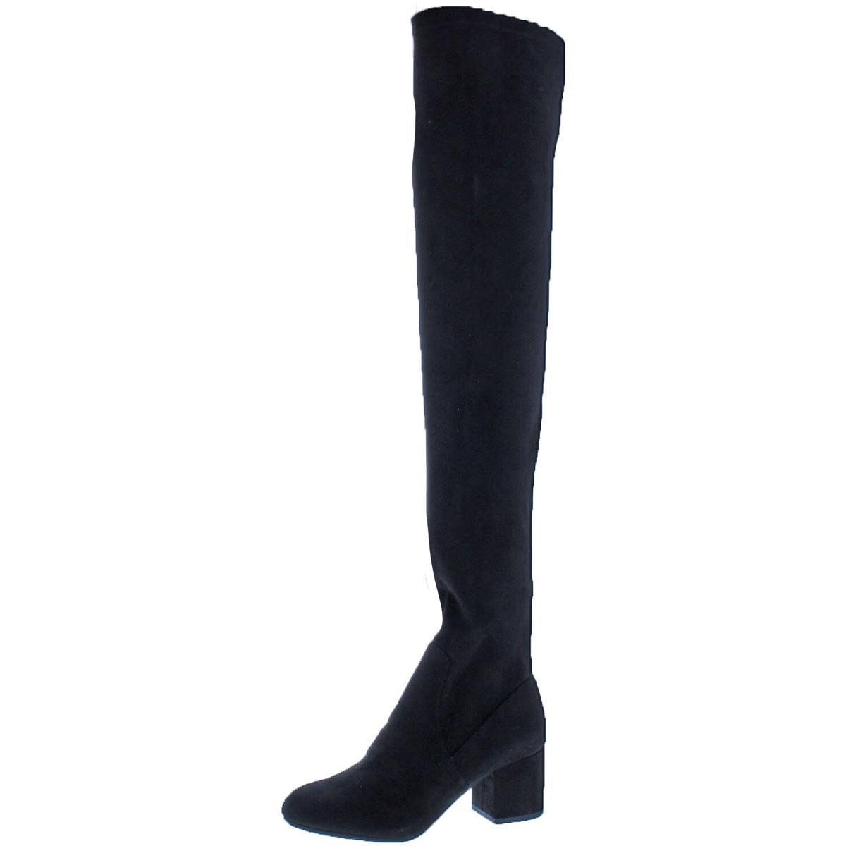 d803342bb44 Details about Steve Madden Womens Isaac Black Over-The-Knee Boots 6 Medium  (B