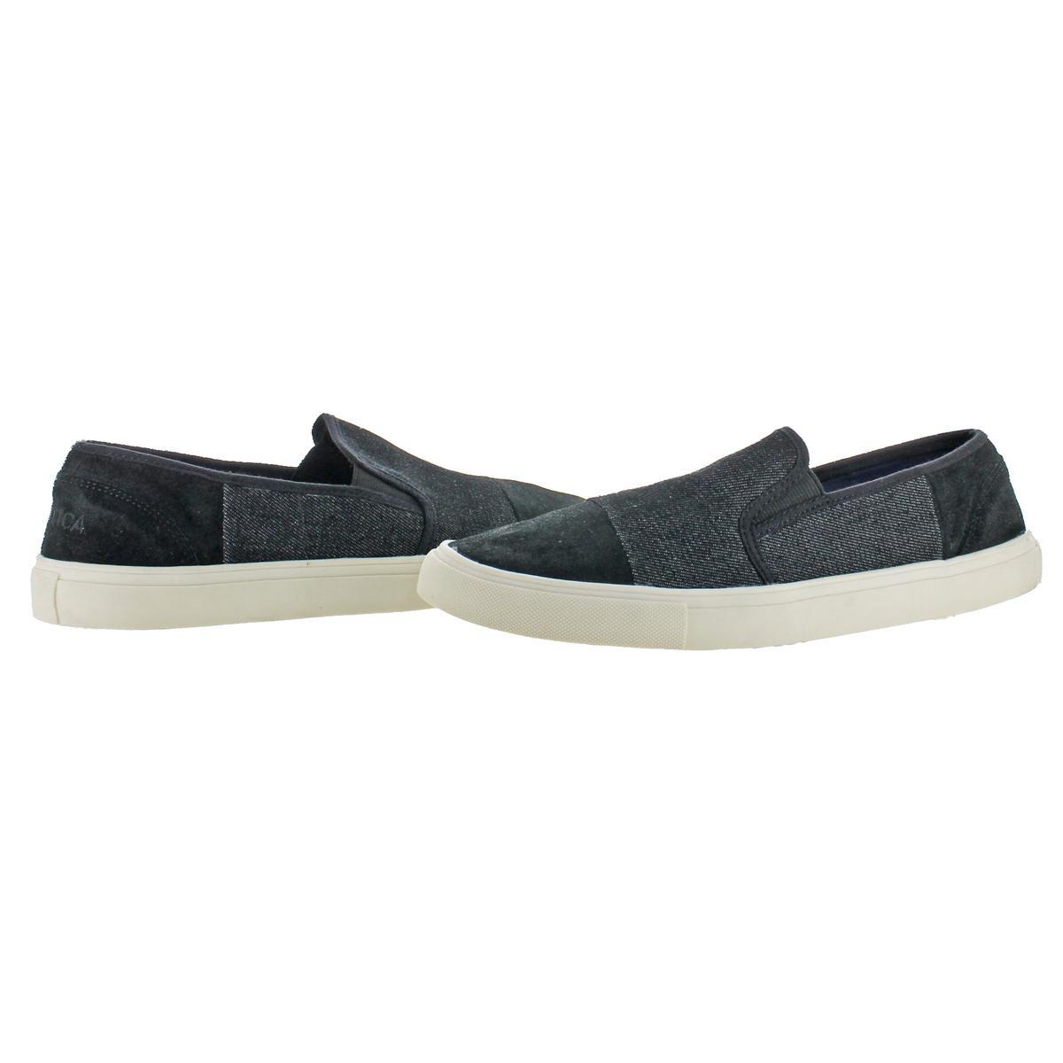 Nautica-Men-039-s-Kapena-Canvas-Denim-Low-Top-Slip-On-Fashion-Sneakers-Shoes thumbnail 3