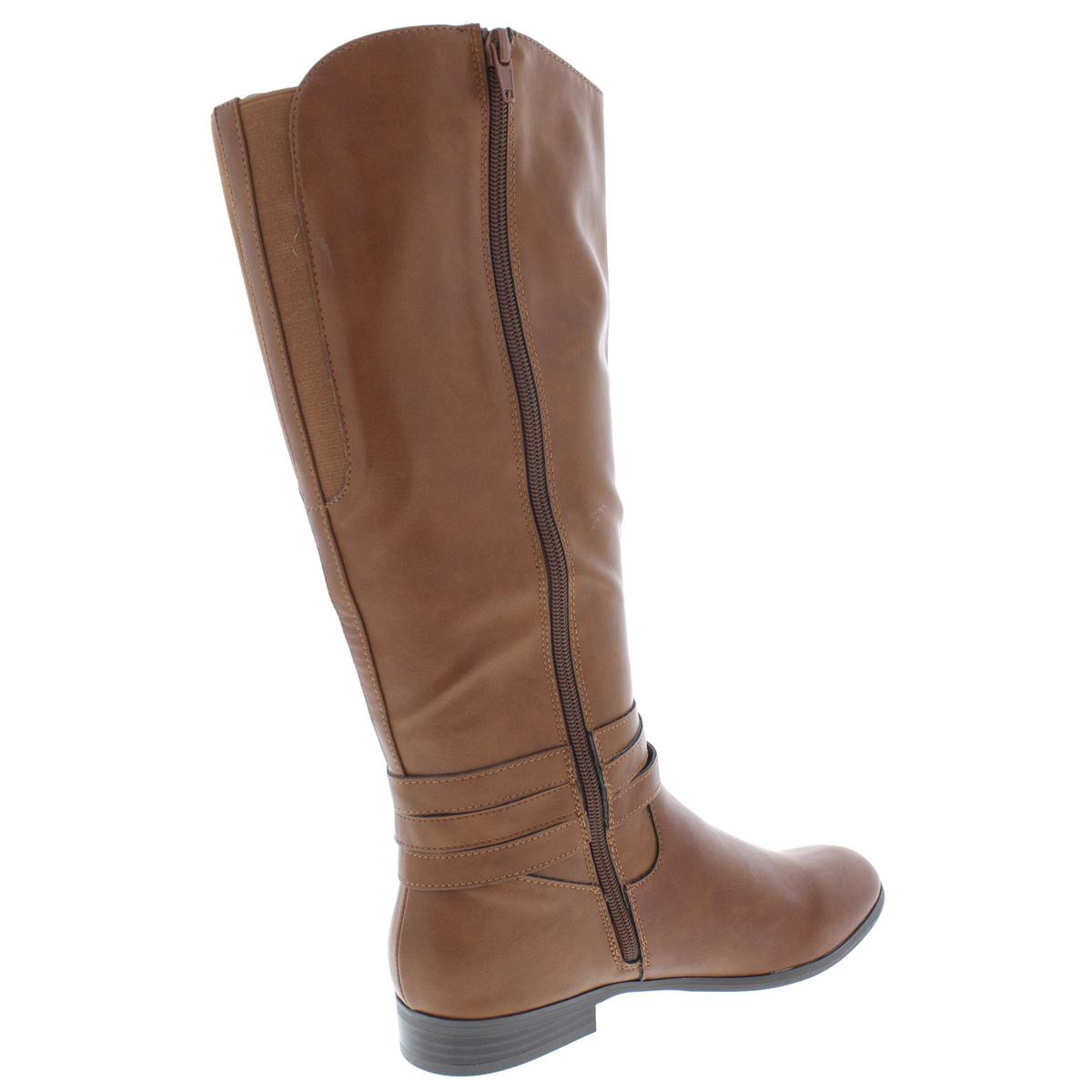 Style   Co. Womens Keppur Faux Leather Knee-High Riding Boots Shoes ... 223e35890f