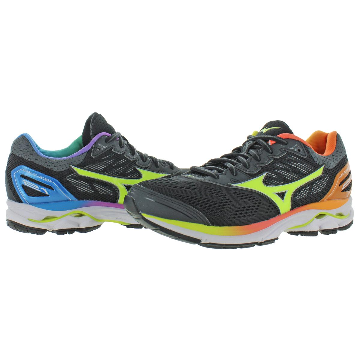 Mizuno-Womens-Wave-Rider-21-Trainer-Low-Top-Running-Shoes-Sneakers-BHFO-4647 thumbnail 3