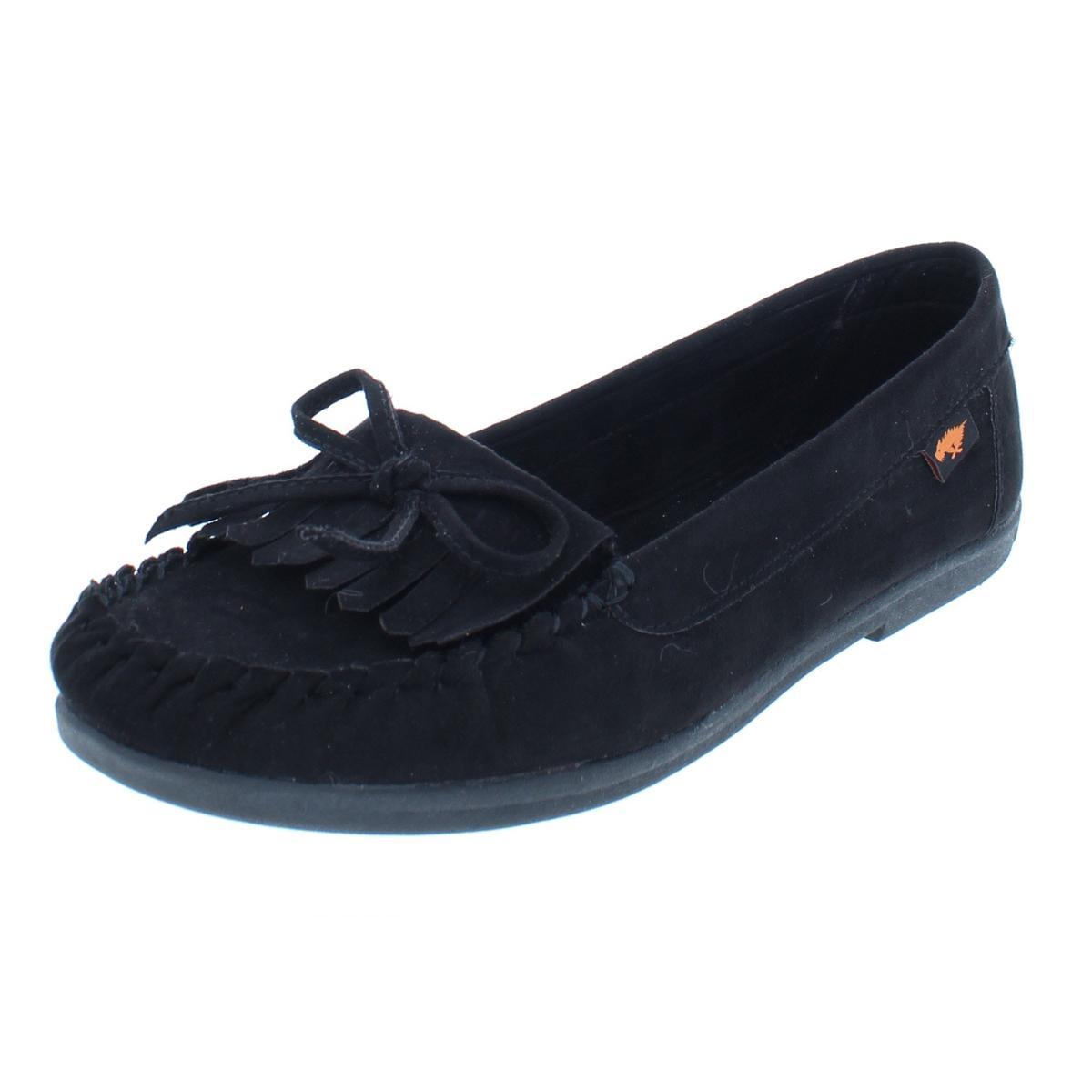 ee0ae76ba13 Details about Rocket Dog Womens Black Faux Suede Moccasins Shoes 8.5 Medium  (B