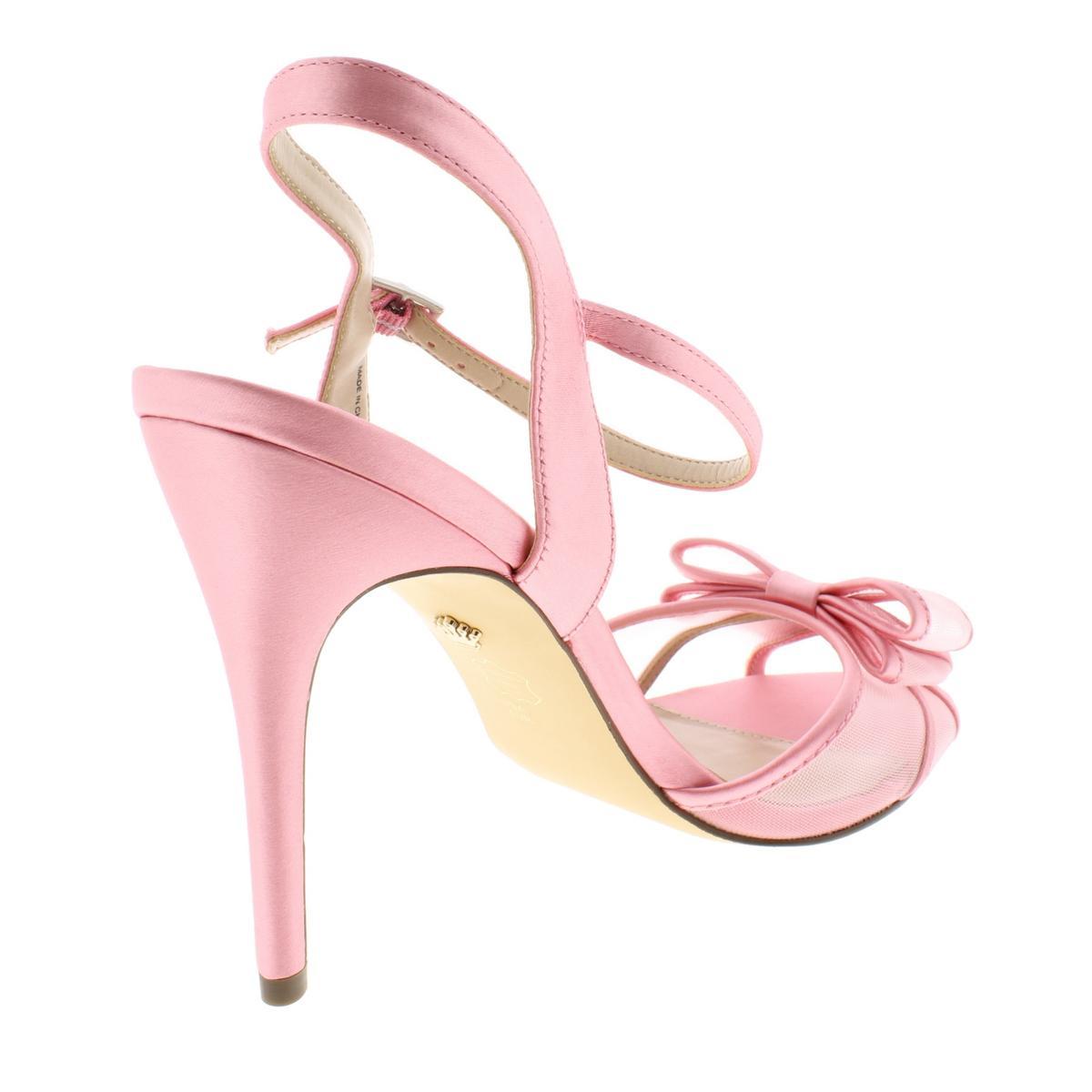 Nina-Womens-Charm-Satin-Dress-Ankle-Strap-Evening-Sandals-Heels-BHFO-9510 thumbnail 4