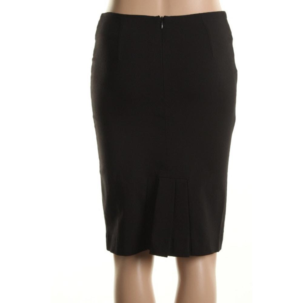 rage new black seamed knee length pencil skirt bottoms