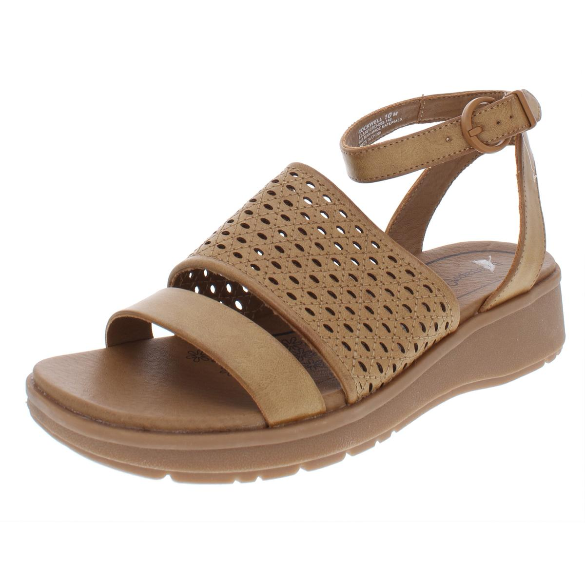 0e1315cdfb7c Details about Baretraps Womens Rockwell Faux Leather Perforated Wedge  Sandals Shoes BHFO 6042