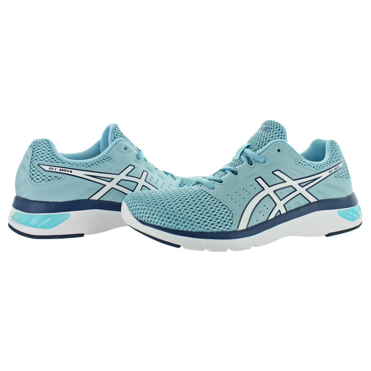 Asics-Womens-Gel-Moya-Blue-Running-Shoes-Sneakers-12-Medium-B-M-BHFO-5296 thumbnail 5