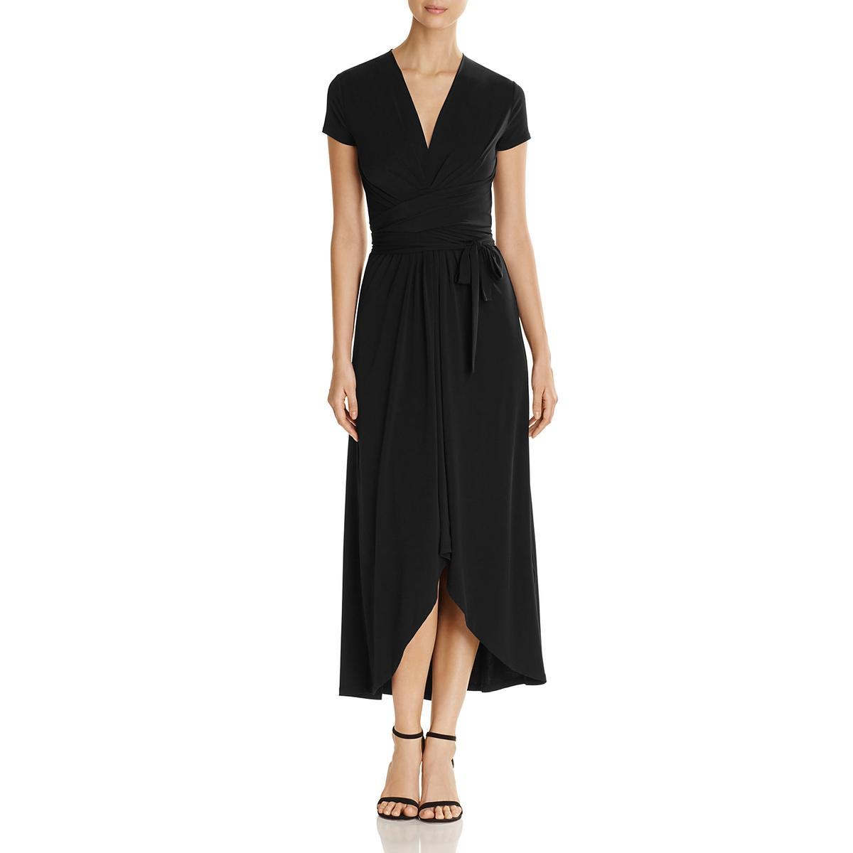 Black Cap Sleeve Maxi Dress