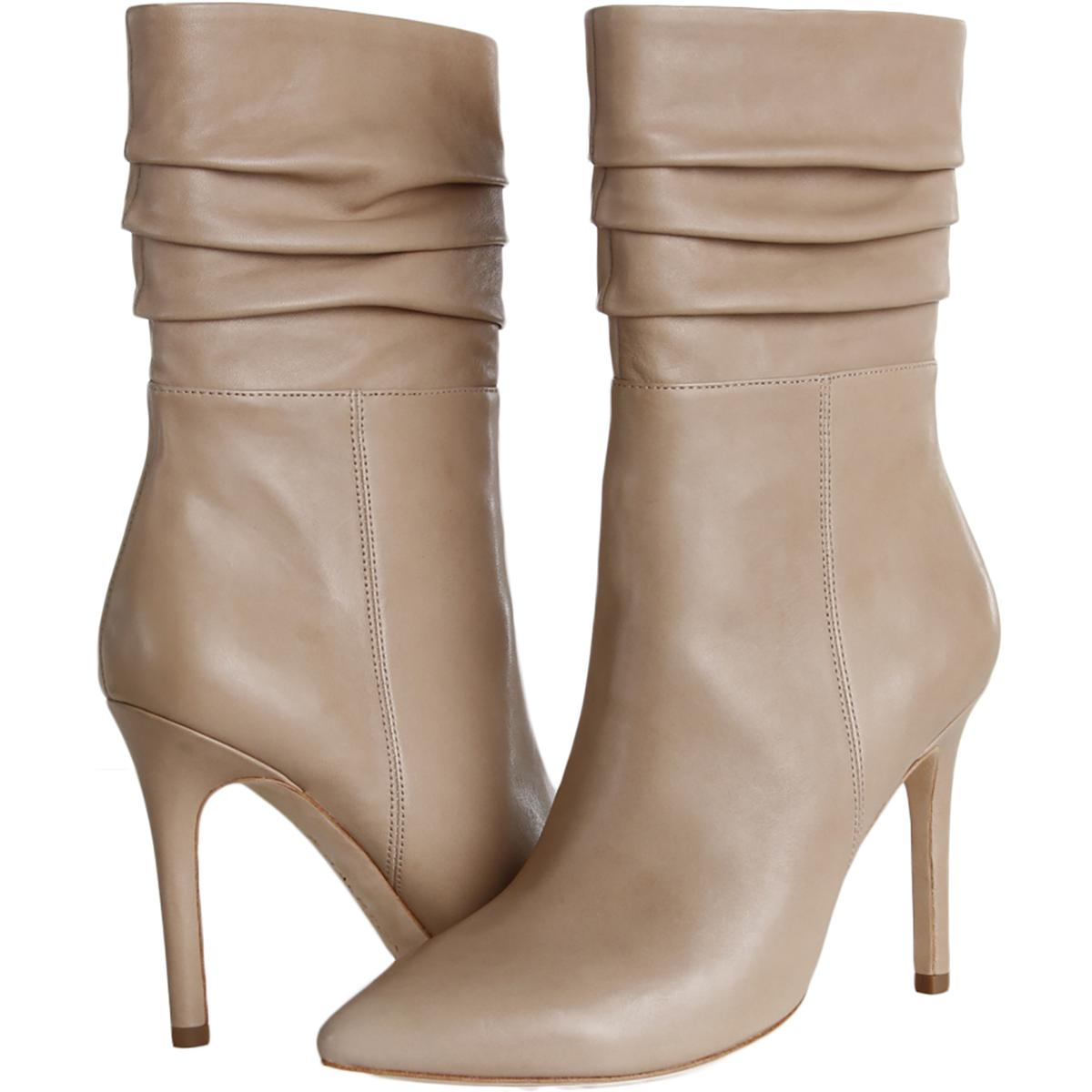 Halston-Heritage-Womens-Heather-Leather-Heels-Mid-Calf-Boots-Shoes-BHFO-1702 thumbnail 7