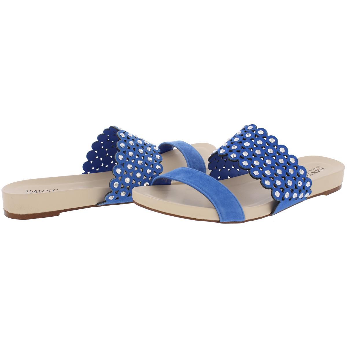 IMNYC-Isaac-Mizrahi-Womens-Suzie-Open-Toe-Studded-Slide-Sandals-Shoes-BHFO-2715 thumbnail 6