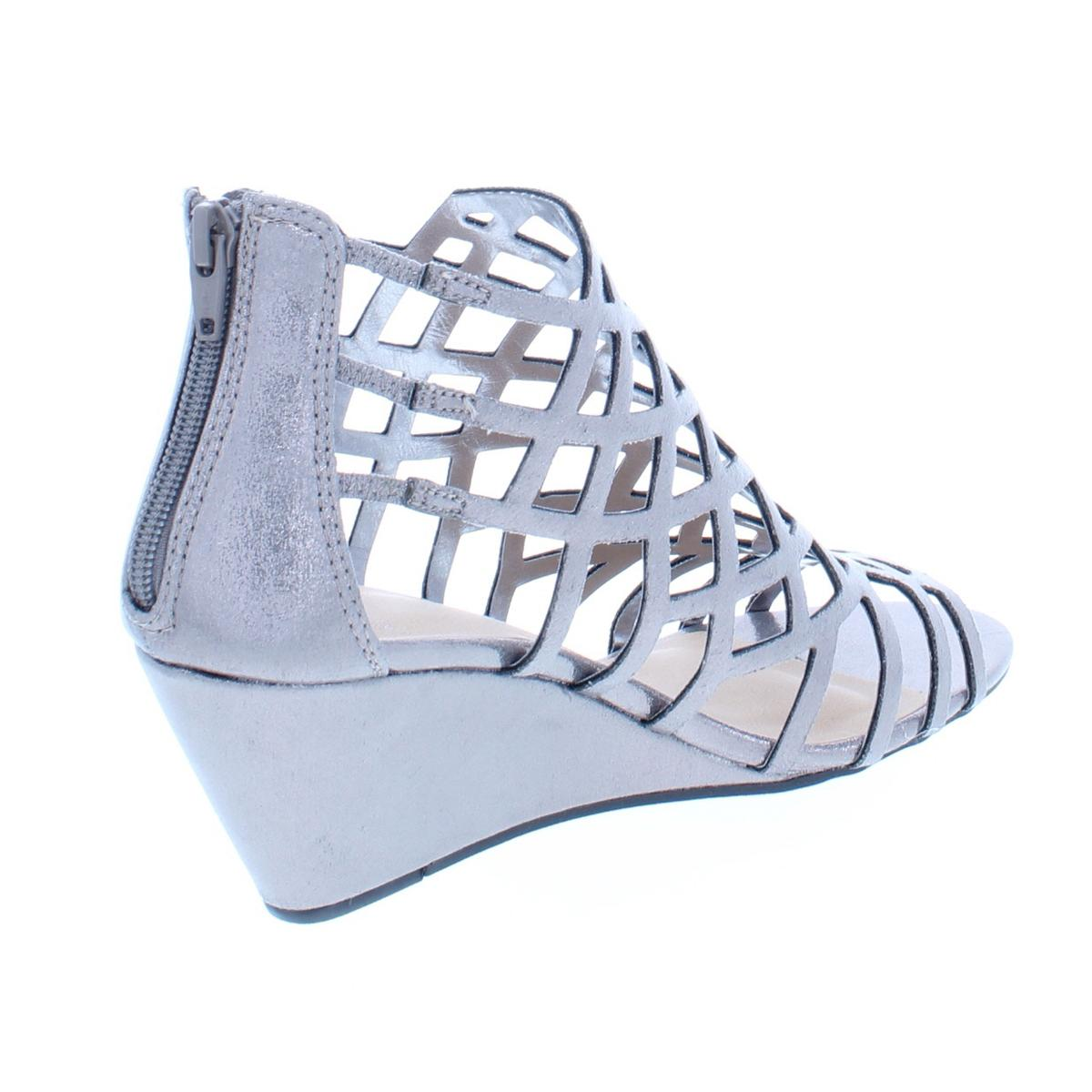 Material-Girl-Womens-Henie-Caged-Open-Toe-Wedge-Sandals-Shoes-BHFO-5439 thumbnail 8
