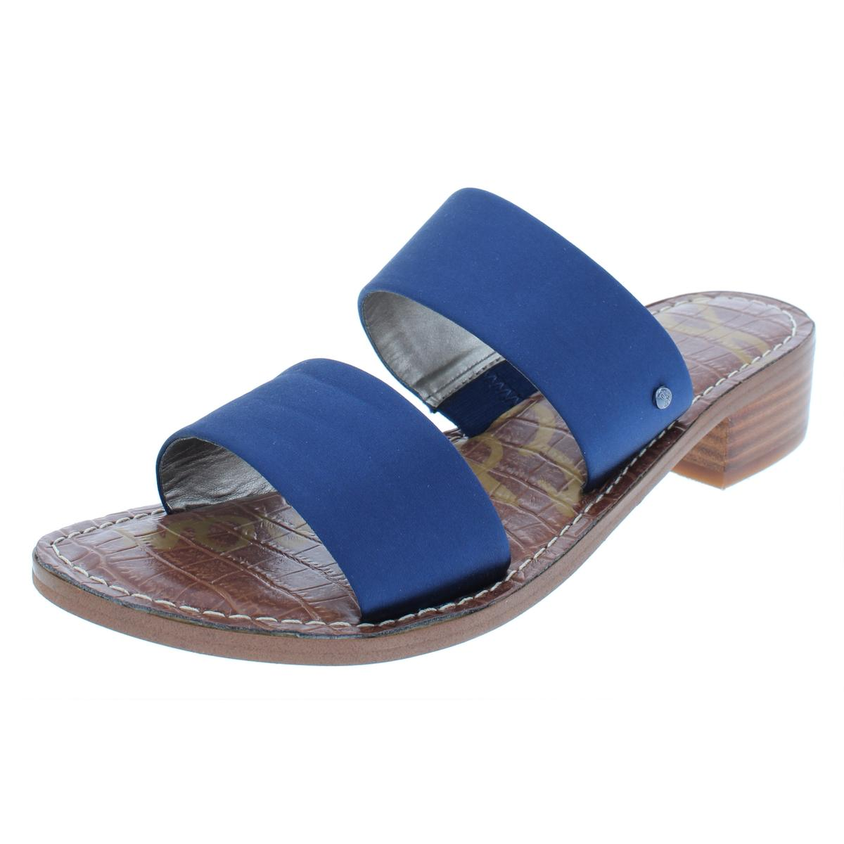 6ae9e438a341 Details about Sam Edelman Womens Jeni Satin Low Casual Evening Sandals  Shoes BHFO 8786
