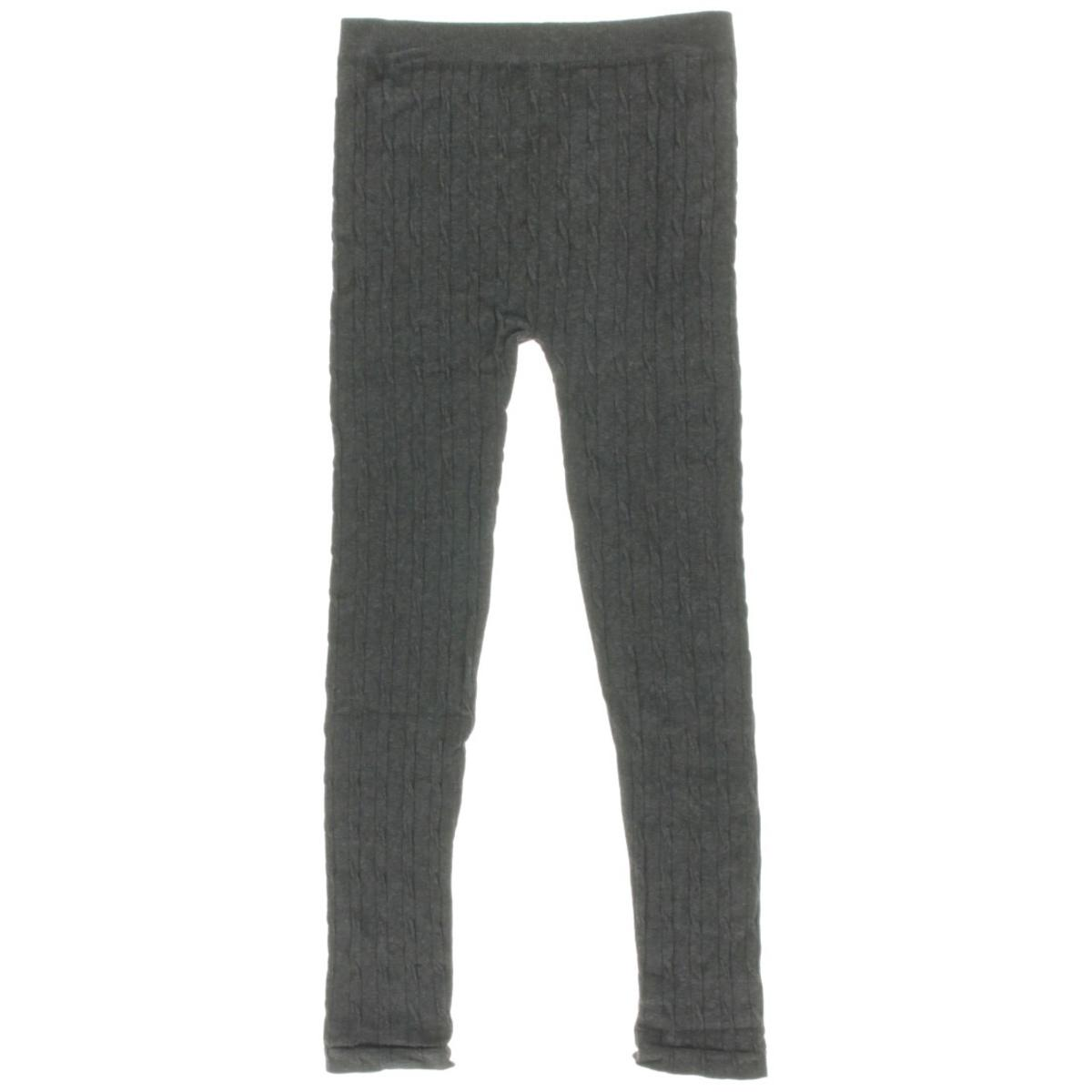 Dream Star 0839 Girls Gray Big Kid Cable Knit Sweater Leggings 7 16