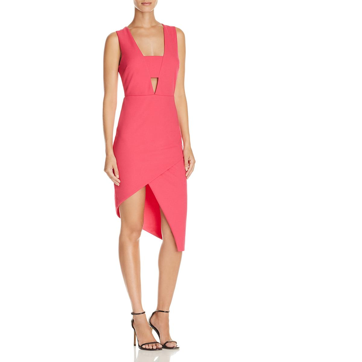1b5190b610d Details about Do + Be Womens Pink Cut-Out Asymmetric Crepe Cocktail Dress  XS BHFO 4553