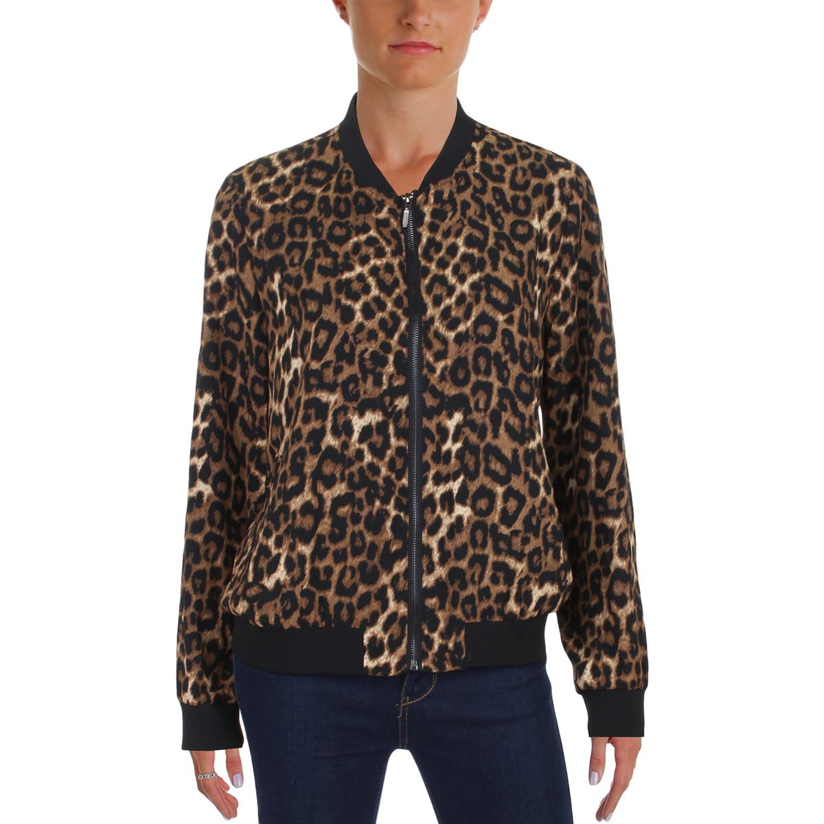 bb20e6833b3717 Details about Cupio Blush Womens Fall Animal Print Fashion Bomber Jacket  Coat BHFO 8227