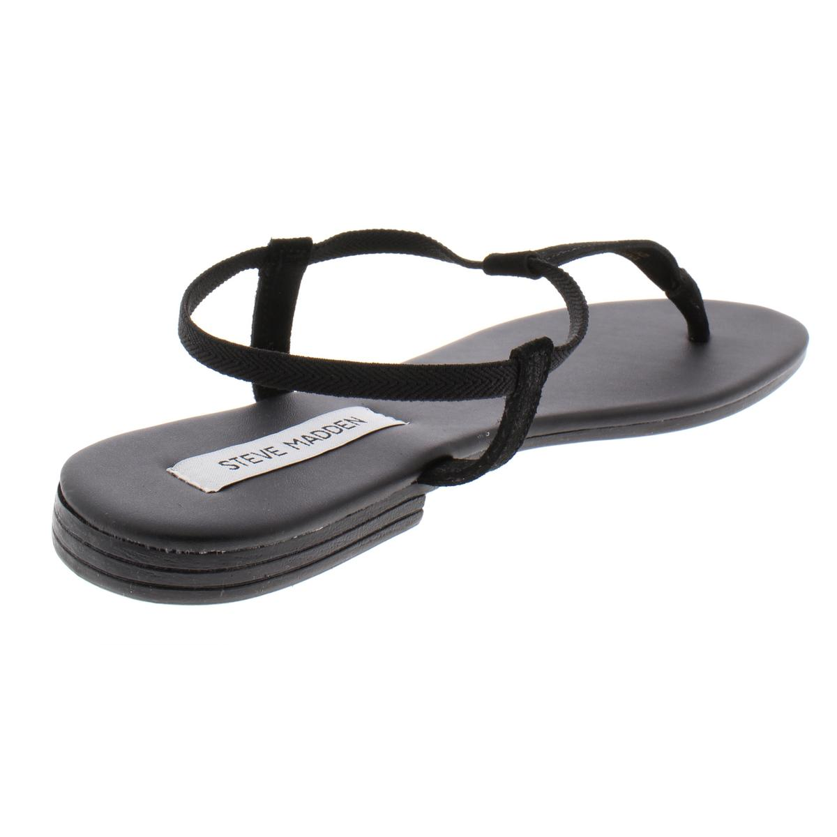 Steve-Madden-Women-039-s-Synergy-Leather-Thong-T-Strap-Sandals thumbnail 3