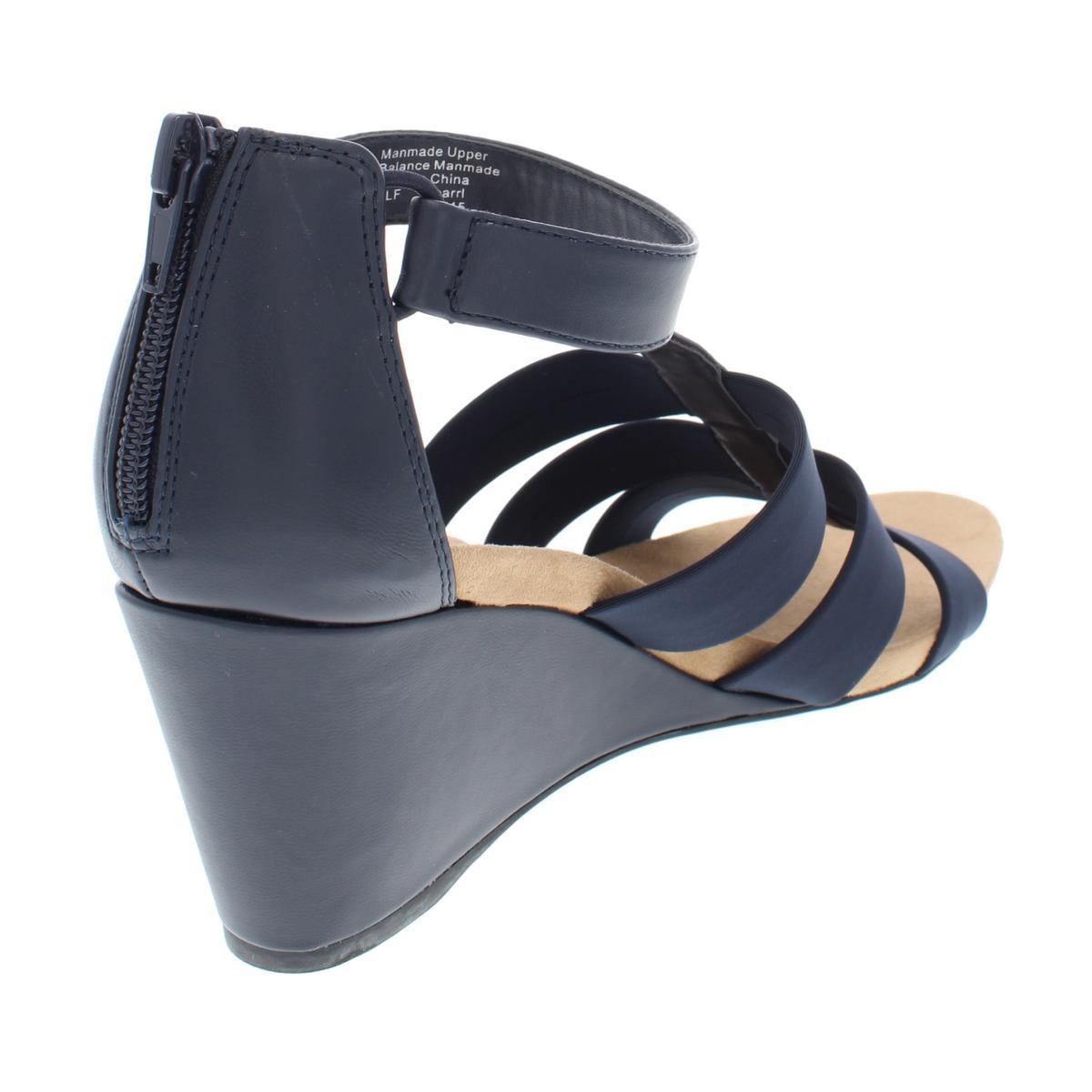 Alfani-Womens-Pearrl-Faux-Leather-Strappy-Open-Toe-Wedges-Sandals-BHFO-4486 thumbnail 4
