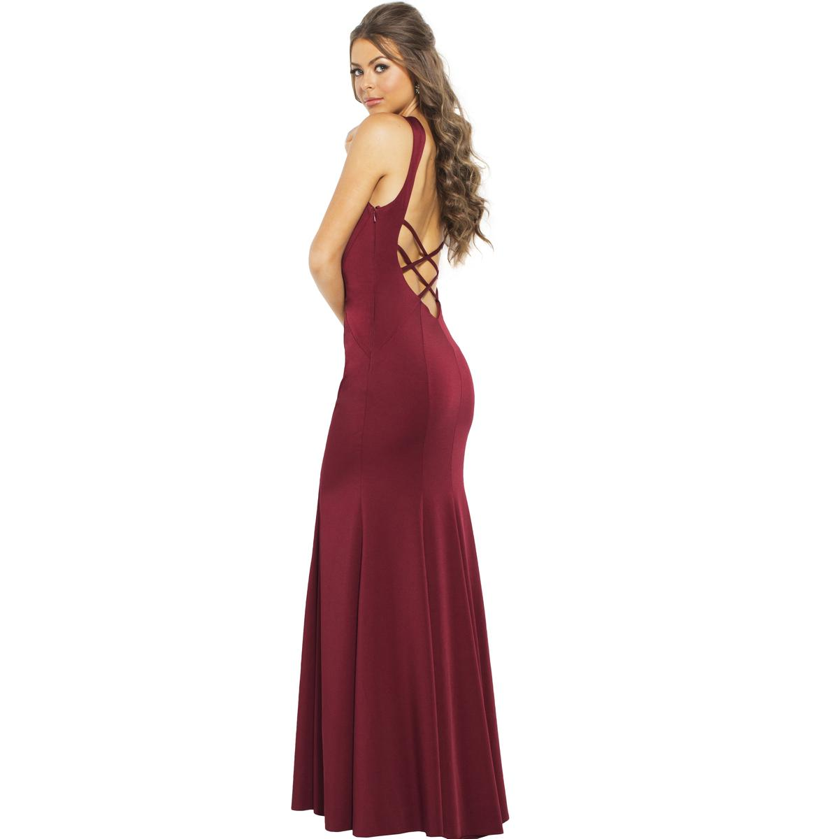 JVN by Jovani Womens 59336A Prom Illusion Open Back Evening Dress ... 95c17d935a