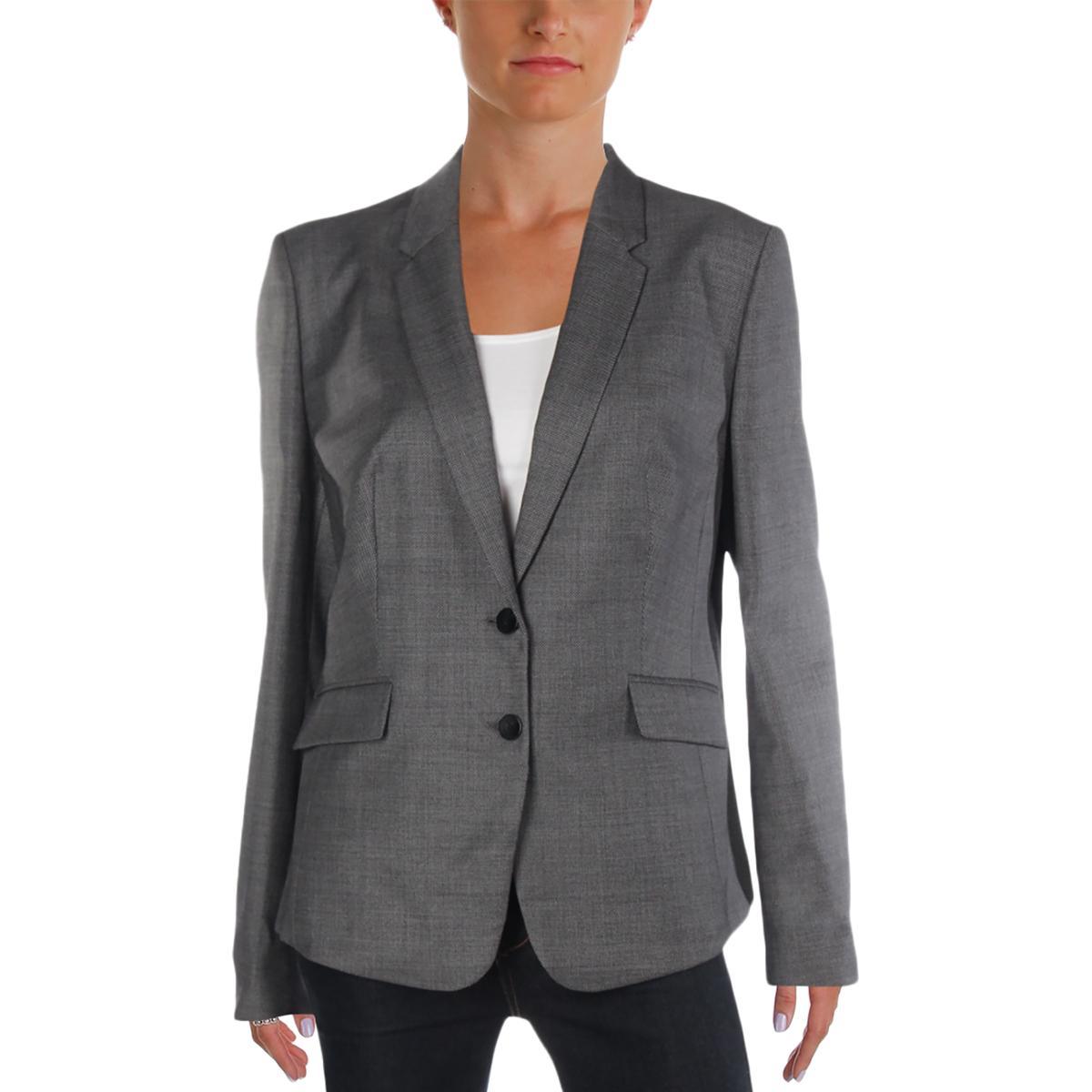 80d3139e4 Details about Hugo Boss Womens Jalinera Basic Gray Wool Business Suit  Jacket 12 BHFO 1764