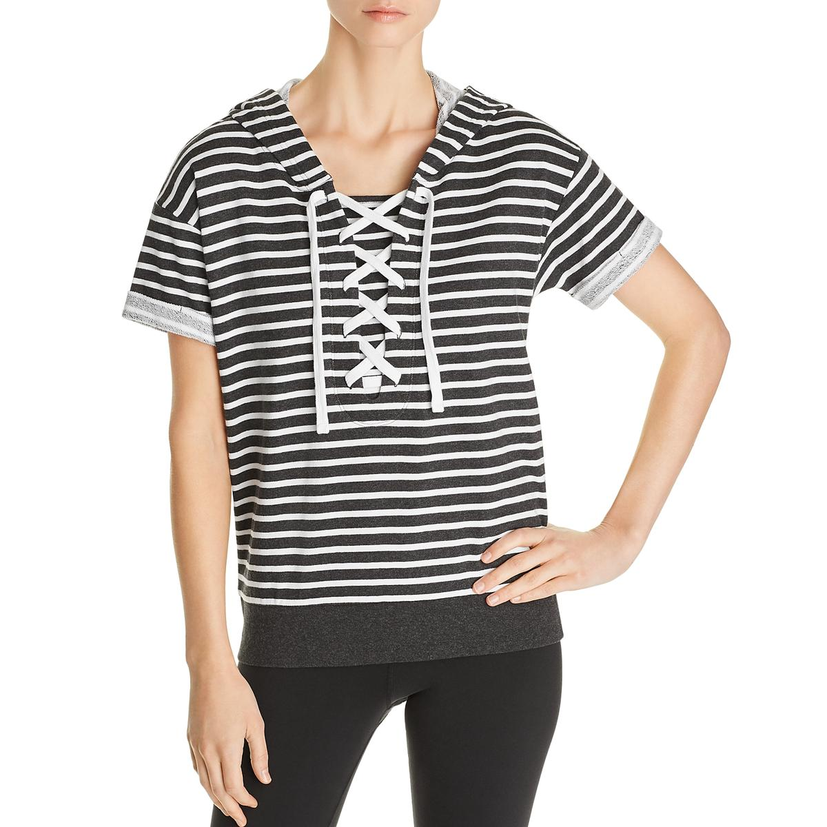 Marc New York Performance Womens Terry Cloth Striped Tee