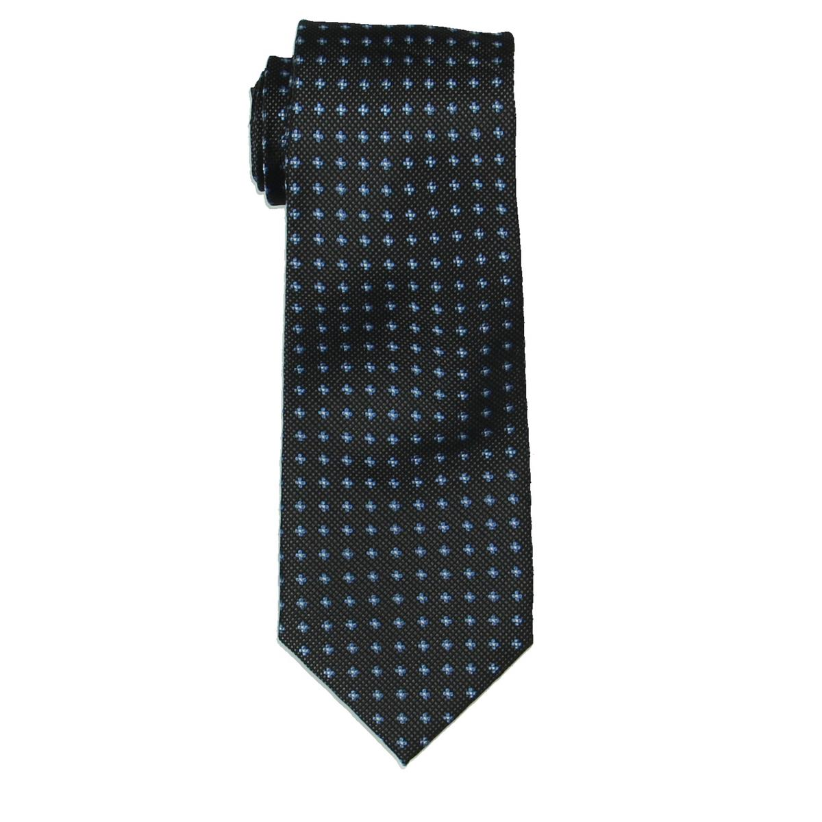 c861f89784 Details about Club Room Mens Sam Black Silk Floral Print Business Neck Tie  O S BHFO 6205