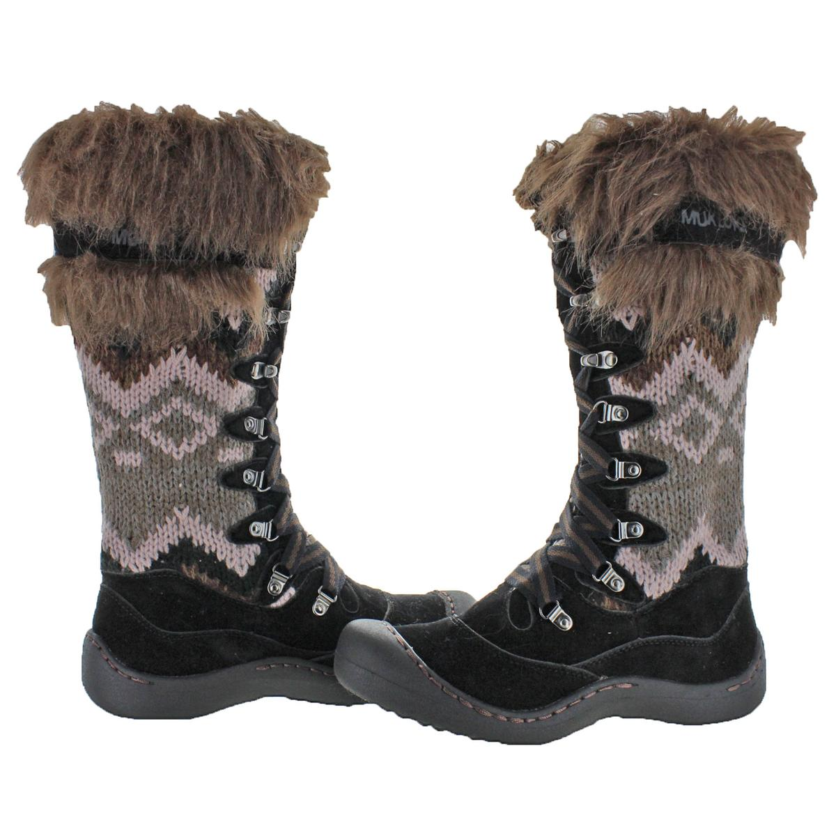 Muk Luks Gwen Women s Faux Suede Water Resistant Tall Winter Snow ... 8781ae9e6e