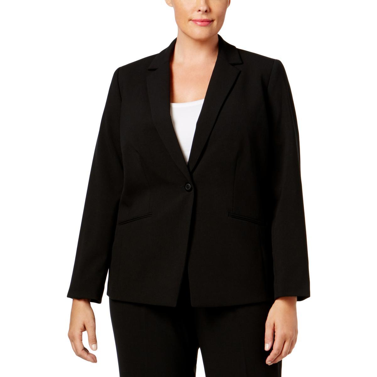 015a8a24f17 Details about Tahari ASL Womens Bracelet Sleeve One-Button Blazer Jacket  Plus BHFO 9471