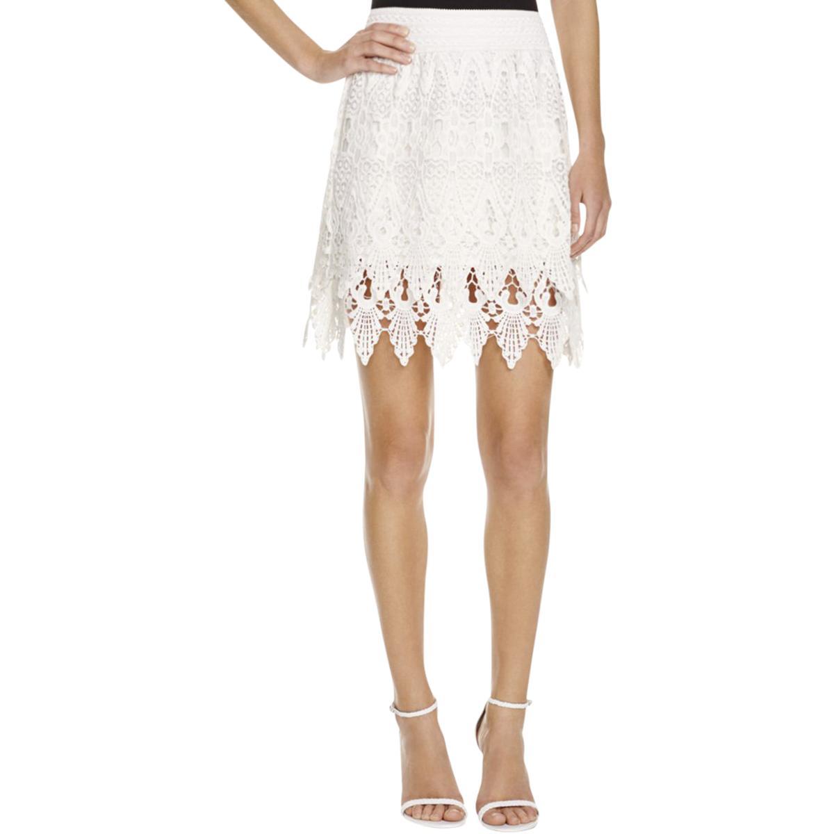 Boho Skirt S BHFO 1092 Rahi Cali Womens White Mini Casual Embroidered Peasant