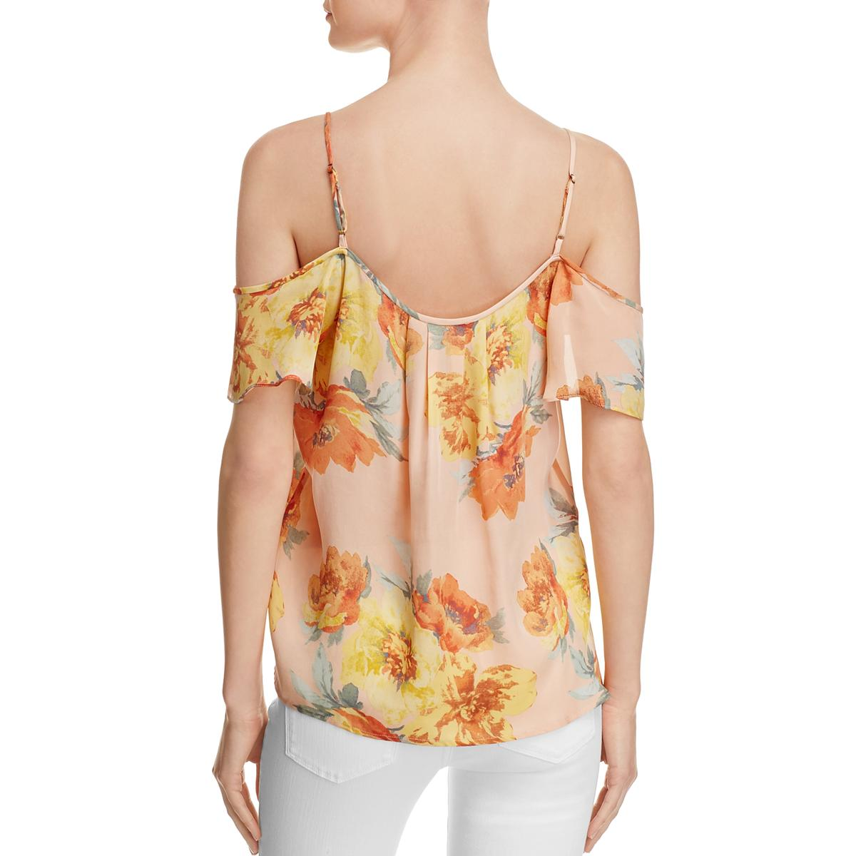 33b620fdfc66e7 Joie Womens ADORLEE Silk Sleeveless Floral Print Pullover Top Blouse ...