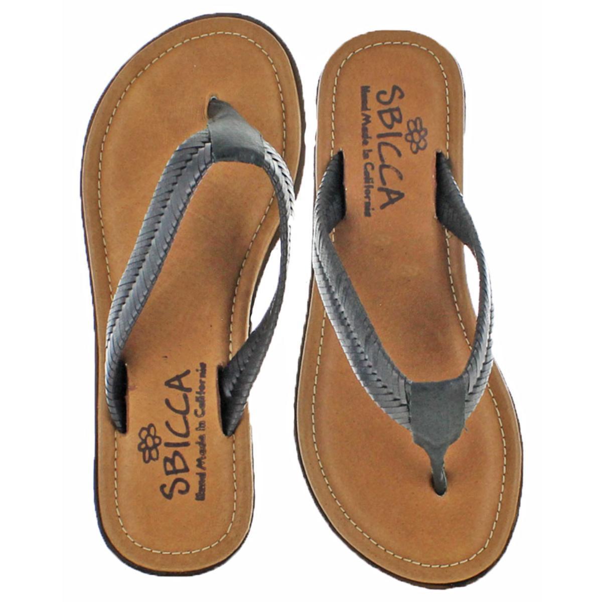 ca359ae3be0376 Buy Sbicca Womens Elonara Black Woven Thong Sandals Shoes 8 Medium ...