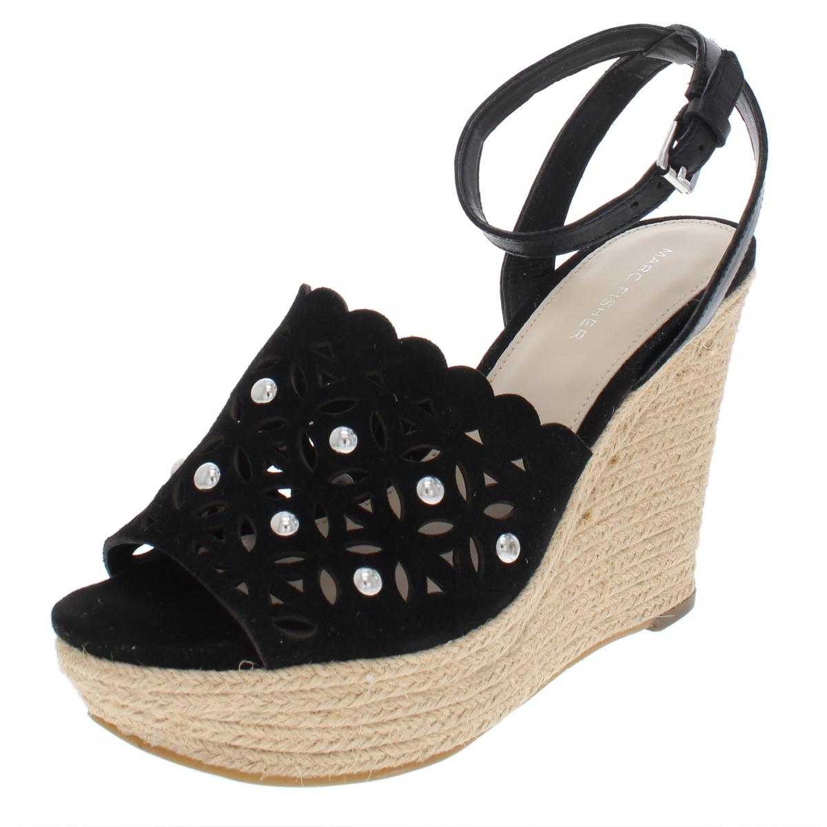 3e2c9487f24 Details about Marc Fisher Womens Hata Suede Wedges Embellished Espadrilles  Shoes BHFO 6455